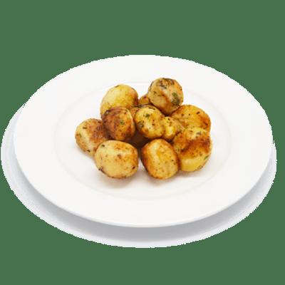 """Картофель запеченный <p style=""""color:#FF0000"""">200 г.</p>"""