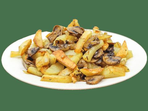 """Картофель тушеный с грибами <p style=""""color:#FF0000"""">200 г.</p>"""