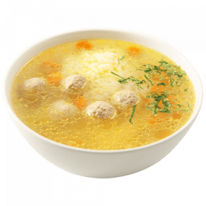 """Суп с фрикадельками <p style=""""color:#FF0000"""">300 гр.</p>"""